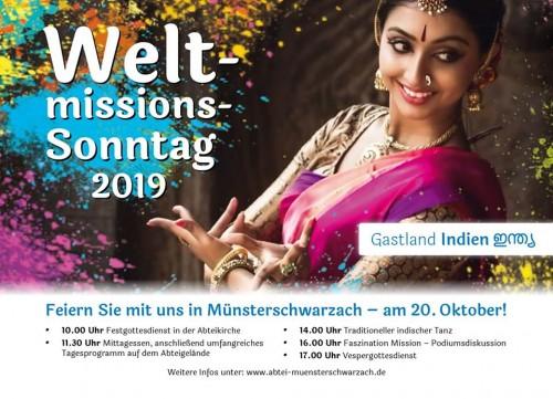 Weltmissionssonntag 2019 mit Gastland Indien